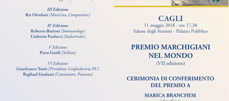 premio marchigiani nel mondo cagli Fronte Rotary