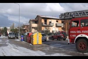 Incendio a San Silvestro di Fermignano. 31 dicembre 2014